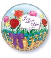 "22"" I love You Flowers Bubble Balloon"