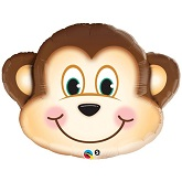 "35"" Mischievous Monkey Jumbo Packaged Mylar Balloon"