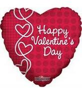 "18"" Happy Valentine&#39s Day Lace Hearts"