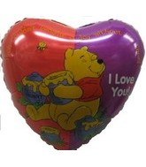 "18"" Winnie The Pooh I Love You Damaged Print"