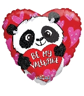 "18"" Panda Bear Be My Valentine Balloon"