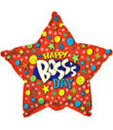"18"" Happy Boss's Day Smiley Star"