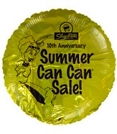 "18"" ShopRite 10th Anniversary Summer Sale Gold Balloon"