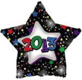 "18"" 2013 Star Mylar Balloon"