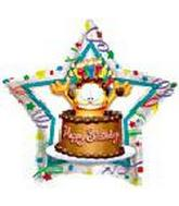 "18"" Garfield Birthday Chocolate Cake Star"
