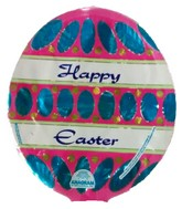 Happy Easter Painted Egg Shaped Airfill Balloon
