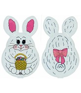 "14""White Bunny Easter Airfill-Only Balloon(PRINT DMG)"