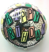 "18"" Happy Birthday Block Letters"