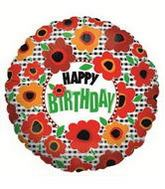 "9"" Airfill Balloon POPPIES BIRTHDAY"