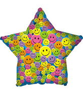 "31"" Many Smiley Faces Star (B19)"