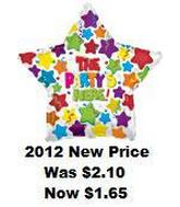 "31"" The Party Starts Here Mylar Balloon"