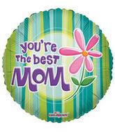 "18"" You�re The Best Mom Mylar Balloon"