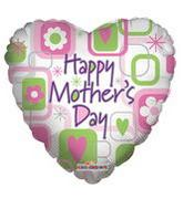 "18"" Happy Mother&#39s Day Squares Balloon"