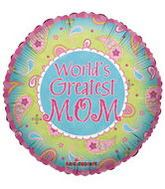 "18"" Fun Paisley Greatest Mom Balloon"