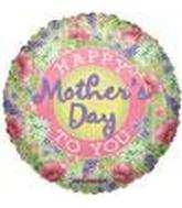 "9"" Airfill Mother's Day Poppies Balloon"