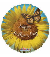 "9"" Airfill  Sunflower & Butterfly Happy Mother&#39s Day"