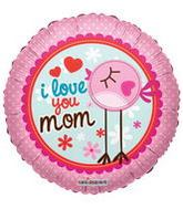 "18"" I Love You Mom Clear View Bird"