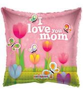 "4"" Airfill I Love You Mom Tulips Balloon"