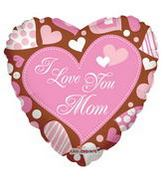 "18"" I Love You Mom On Chocolate Balloon"