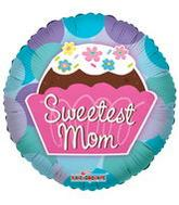 "9"" Airfill Sweetest Mom Cupcake Balloon"