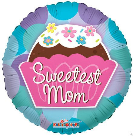 "36"" Sweetest Mom Cupcake Mylar Balloon"