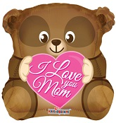"18"" Love You Mom Bear Shape"