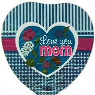 "9"" Airfill Only Love You Mom Turquoise Heart"