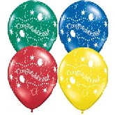 "12"" Assorted Congratulations All-Round Print (50 bag)"