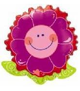 "23"" Smile Face Daisy Flower Shape Balloon"