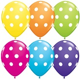 "11"" Big Polka Dots latex Balloons 50 Count"