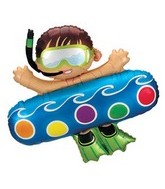 "40"" Scuba Swimming Boy Shape Balloon"
