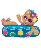 "36"" Pool Doughnut Girl Shape Balloon"