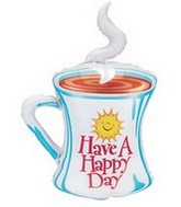 "39"" Sun Happy Day Coffee Cup Shape Balloon"