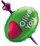 "36"" Olive You Balloon"