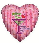 "9"" Airfill Balloon OLIVE V-DAY"