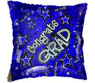 "18"" Congratulations Grad Stars Purple Balloon"