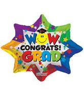"28"" Wow Congrats! Grad Balloon"