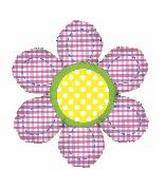 "40"" Gingham Flower Shape"