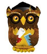 "28"" Wise Old Grad Owl Graduation Balloon"