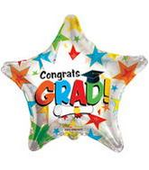 "36"" Colorful Stars CongratsGrad Clear View"