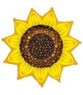 "42"" Sunflower Super Shape Balloon"