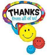 "42"" Thanks Smiley Stacker Balloon"