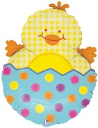 "28""  Easter Chick Balloon (Slightly Damaged Print)"