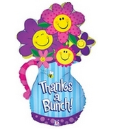 "37"" Thanks A Bunch Flowers Balloon"