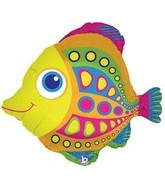 "27"" Foil Super Shape Citrus Fish Balloon"