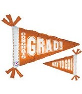 "31"" Orange Congrats Grad Way to Go"