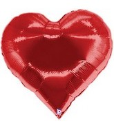 "30"" Casino Super Shape Heart Mylar Balloon"