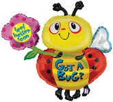 "38"" Got A Bug Get Well Bee Mylar Balloon"