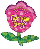 "29"" Get Well Soon Tulip Shape Balloon"