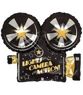 "32"" Lights Camera Action Projector Balloon"